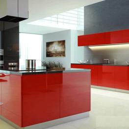 Kính màu ốp bếp Đỏ Rubi